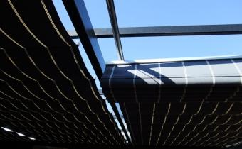 Pleated Patio Shades Melbourne Shadewell Awnings Amp Blinds
