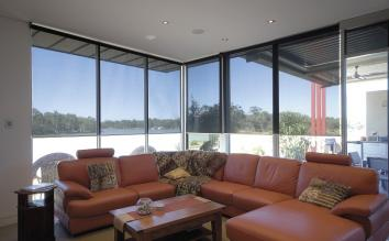Roller blinds with sunscreen fabric in Melbourne